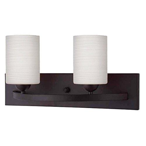 Customizable Bathroom Vanity Light - Merida Modern 2-Light Vanity - Bronze