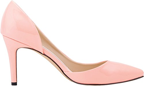 CFP YSE-952-5QP Womens Snug Crafted Office Daily Comfy Pointy Toe Stiletto Lightweight Shallow Mouth Convenient Pliable Leisure D-orsay Fashionable Business Charm High Heel Pink OD49WzupOK