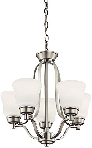 Kichler 1788NIL18 Langford Chandelier, 5-Light LED 50 Total Watts, Brushed -