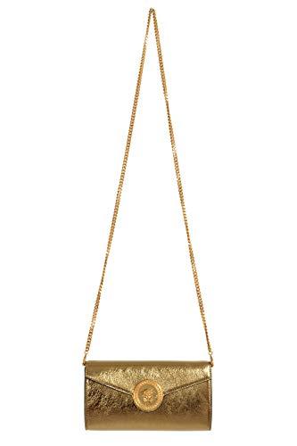 Versace Leather Shoulder Bag - Versace 100% Leather Gold Women's Crossbody Shoulder Bag