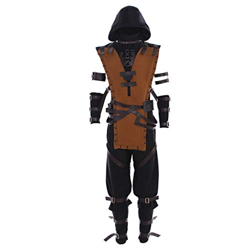 CosplayDiy Men's Suit for Mortal Kombat X Scorpion Cosplay Costume M]()