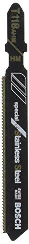 Bosch T118AHM3 3-Inch, 24TPI, TC Bosch Shank Jigsaw Blade, 3