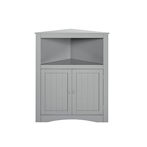 RiverRidge Kids 02-140 - clóset esquinero de 2 Puertas, Color Blanco, Gris, None, 1, 1