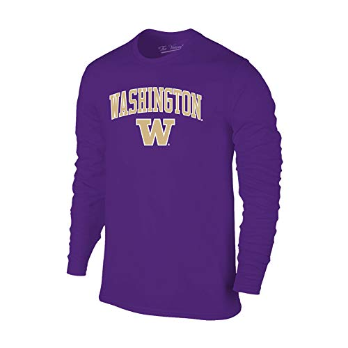 Elite Fan Shop Washington Huskies Long Sleeve Tshirt Arch Purple - ()