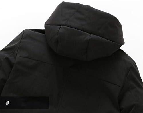 WEARS Sport all'Aria Aperta Giacca di Cotone di Cotone Invernale Abbigliamento Maschile di Dimensioni Grandi di Colore Solido delle Ispessito Cotone Cappotto Lungo,Green-4XL