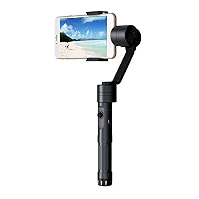 """Zhiyun Smooth-II 3 Axis Handheld Gimbal Camera Mount for smart phones up to 7 screens, such as iPhone 7, 6 Plus, 6, 5S, 5C, Samsung S6, S5, S4, S3, Note 4, 3, and more (1-Year Warranty)"""" from Zhiyun"""