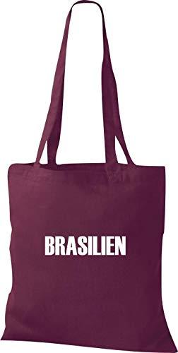De Land Burgubdy Tela Fútbol Bolsa Brasil Shirtstown Yute Países xRwCqHB