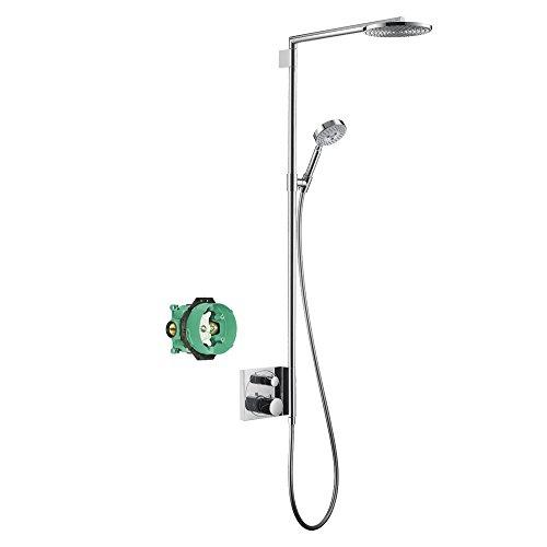 Hansgrohe KS27192-01850CR-2 Raindance S 180 Showerpipe with Rough-In, Chrome (180 Showerpipe Raindance)