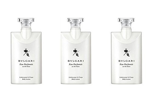 Bvlgari White Tea (Bvlgari Au the Blanc (White Tea) Body Lotion - Set of 3, 2.5 Ounce bottles)