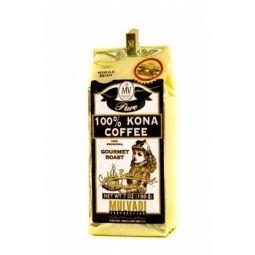 Mulvadi 100 Percent Kona Coffee Whole Bean 7 Ounce Gold Foil Bag with Bag Clip
