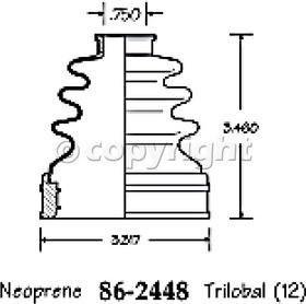 Empi 86-2448-D CV Boot Kit