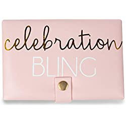 Pavilion Gift Company Celebration Bling Jewelry Case, Pink