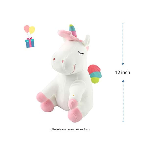 Athoinsu 13 inch Pink Plush Stuffed Fluffy Unicorn Animal Toy Ideal Gift Birthday Present for Girls Aged 3-10 Years Old or As Valentine's Gift for Lovers 4