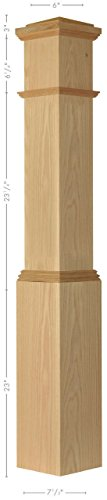 Amish Made 4092 Poplar Box Newel Post - Amish Pedestal