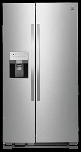 Kenmore 50043 25 cu. ft. Side-by-Side Refrigerator with Water and Ice Dispenser in Stainless ...