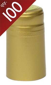 Gold PVC Capsules - 100 ct.