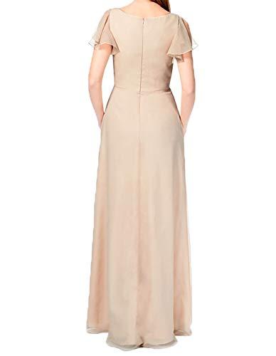 Ausschnitt Elegant Festlichkleider Abendkleider Damen Lemon Brautjungfernkleider Brautmutterkleider V Charmant Gruen Chiffon lang wqZInF5