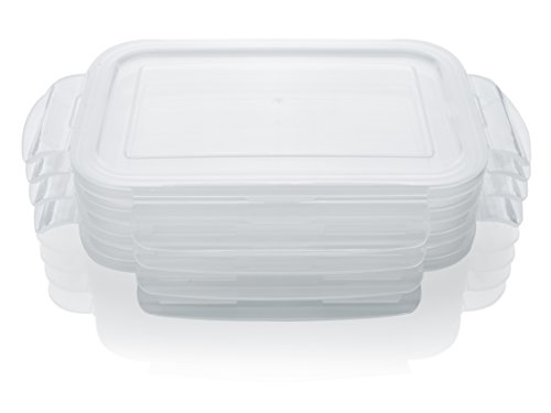 king Lids For Otis Classic Glass Meal Prep Food Storage Container 28oz Size - 4pc Lids ()