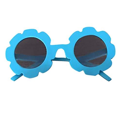 ❤️ Mealeaf ❤️ Baby Kids Boys Girls Anti-UV Glasses Cartoon Lacework Goggle Sunglasses (Blue,)]()