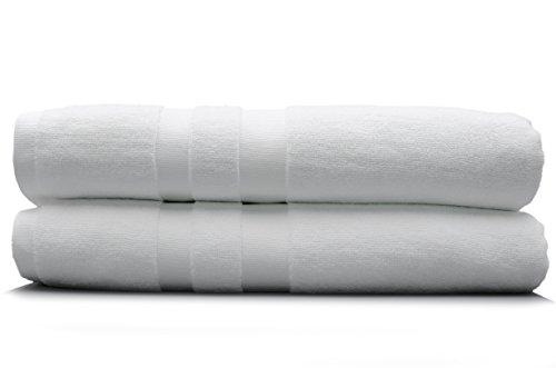 """Laguna Blue Antibacterial Microfiber Bath Towels  White 30"""""""