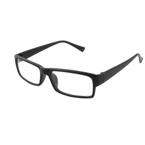 Gleader Cadre rectangle en plastique lunettes noires