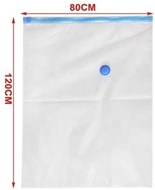 edredones 1 Bomba de Mano Ropa Mantas etc/… Bolsa Almacenaje Vacio Pack de 6 Bolsas Crown Bolsas de Vacio Ahorradora de Espacio para Guardar Transparente, 6 * 40 x 50 cm