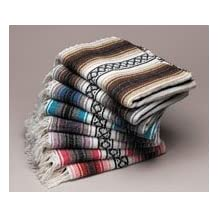 Authentic Mexican Falsa Blanket, Available in Assorted Vibrant Colours