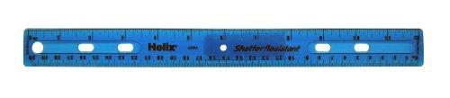 - Helix Shatter Resistant Ringbinder Ruler 12 inch / 30cm, Assorted Colors (61014)