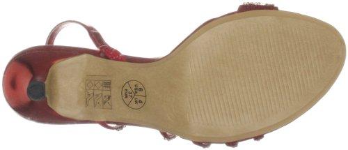 Unze Evening Sandals L18202W - Sandalias para mujer Rojo