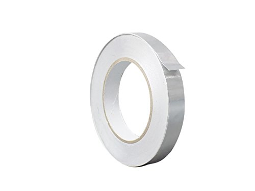 WOD AF-12R Aluminum Tape/Aluminum Foil Tape - 0.5 inch x 150 feet (2.8 mil) - Good for HVAC, Ducts, Insulation and More (Available in Multiple Sizes) Pack of - Aluminum Mil Foil