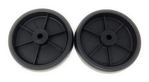 Nickanny's Set Of 2 Replacement BBQ Grill Wheels Pair Set Kit-Solid Plastic Wheel 5