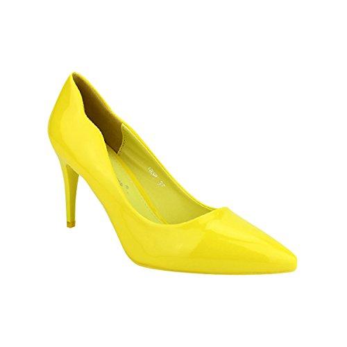 Jaune Cendriyon Escarpin Chaussures Belle Women Femme Verni Jaune 5wg1CwZq