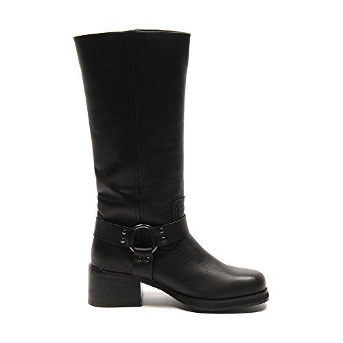 BLU SHU Boots Black Faux Leather Heel Size 36 / UK 3 SB 510 Qik8nPY
