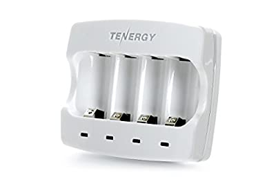 Tenergy 3.7V RCR123A Li-ion Battery Charger - CE, FCC Certified & Works with Arlo Wire-Free HD Security Cameras (VMC3030)