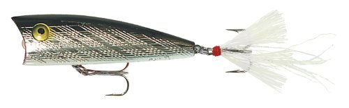 - Rebel Lures Teeny Pop R Fishing Lure (2-Inch, Silver/Black)