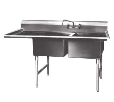 Winholt WS2T2028LD24 Two Compartment Sink with 24