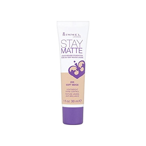 Rimmel Stay Matte Foundation Soft Beige (Pack of 6) - リンメルステイマット基盤ソフトベージュ x6 [並行輸入品] B071NHBV4M