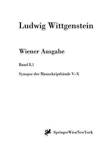 Download Synopse der Manuskriptbände V bis X (Ludwig Wittgenstein, Wiener Ausgabe) (German Edition) ebook