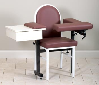CLINTON MD SERIES BLOOD DRAWING CHAIRS Uph seat,back,flip arms & dwr Item# 64929-BF
