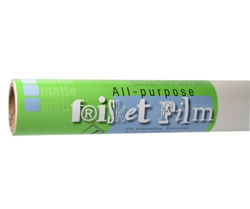 Frisket Film Matte - Grafix All Purpose Low Tack Frisket Film Roll 12-Inch-by-4-Yards, Matte