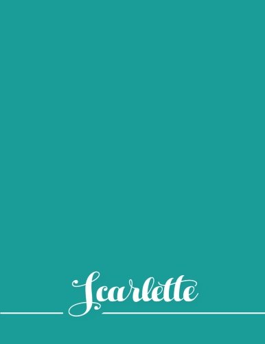 Download Scarlette: 110 Pages 8.5x11 Inches Sea Pastel Design Journal with Lettering Name, Journal Composition Notebook for Girl pdf epub