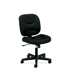 HON ValuTask Low Back Task Chair – Mesh Computer Chair for Office Desk, Black (HVL210)