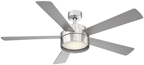 EGLO 203229A Whitehaven Ceiling Fan, 52-Inch, Brushed Nickel