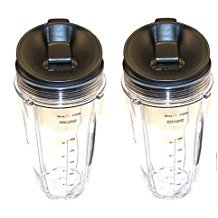 2-Pack - Nutri Ninja 24oz Measuring Cup with Sip & Seal Lid For Auto-iQ Systems