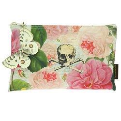 Tokyo Milk Skull w/ Roses Cosmetic Bag, Bags Central