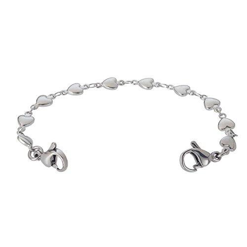Divoti Heart Link Stainless Medical Alert Replacement Bracelet ()
