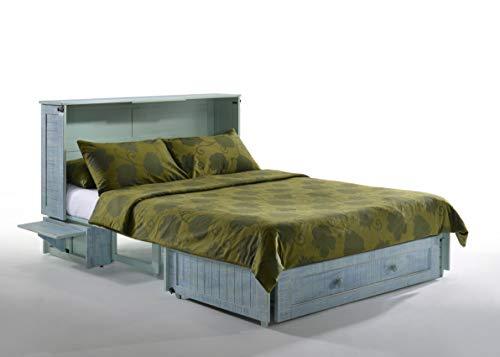 Night & Day Furniture Murphy Cabinet Convertible Bed - Queen Size-with Tri-Fold Premium Memory Foam Mattress (Skye)
