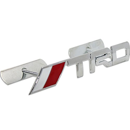 Metal TRD Front Sports Racing Grille Grill Badge Emblem Decal For Toyota