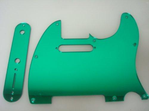 Green Mirror Pickguard Set Fits Fender Telecaster
