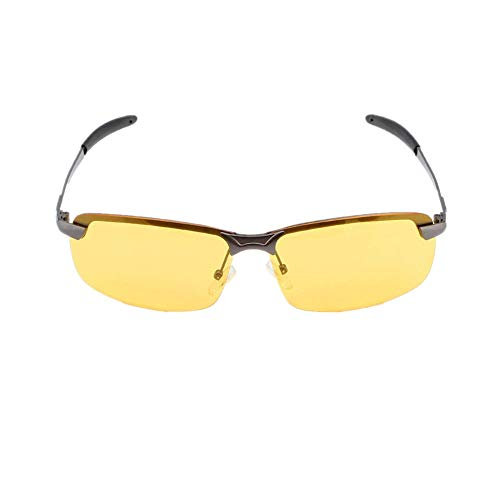 efd60a747138 Yosoo UV400 HD Night Vision Polarized View Glasses Night Driving Safety  Glasses Yellow Anti-glare